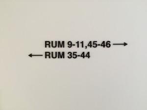 Rumsskyltning – akryl