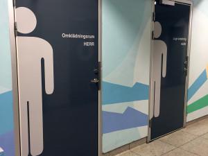 Skyltning – Omklädningsrum & Toaletter