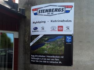 Printade banderoller – Stenbergs Bil, Flens Kommun.